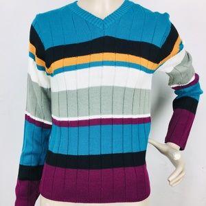 3/$25 Vtg Rockies Jeanswear Color Block Sweater